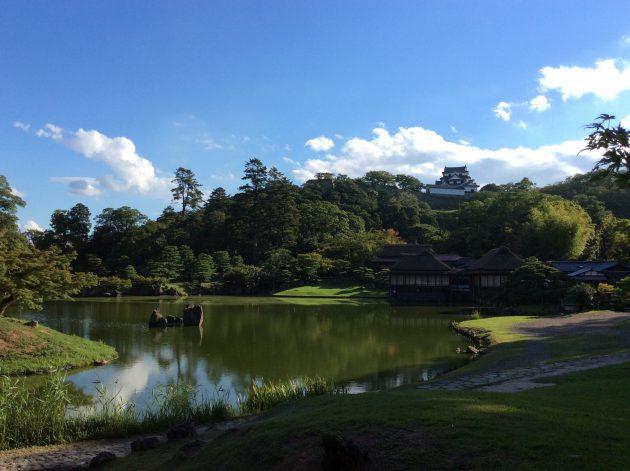 ▲天下の名城、「彦根城」は琵琶湖八景の1つに数えられる