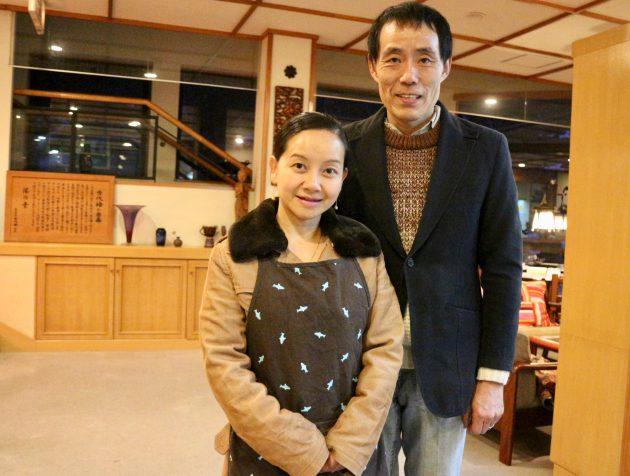 ▲主人の遠藤さんと女将のパンさん